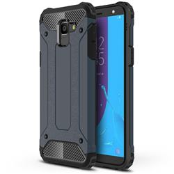 King Kong Armor Premium Shockproof Dual Layer Rugged Hard Cover for Samsung Galaxy J6 (2018) SM-J600F - Navy