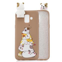 Hamster Family Soft 3D Climbing Doll Stand Soft Case for Samsung Galaxy J6 (2018) SM-J600F