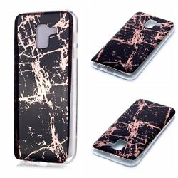 Black Galvanized Rose Gold Marble Phone Back Cover for Samsung Galaxy J6 (2018) SM-J600F