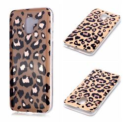 Leopard Galvanized Rose Gold Marble Phone Back Cover for Samsung Galaxy J6 (2018) SM-J600F
