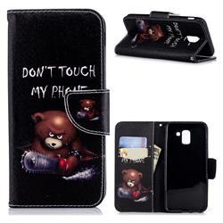 Chainsaw Bear Leather Wallet Case for Samsung Galaxy J6 (2018) SM-J600F