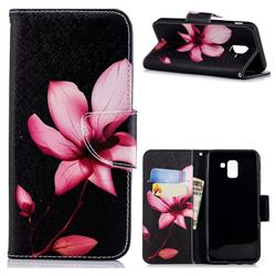 Lotus Flower Leather Wallet Case for Samsung Galaxy J6 (2018) SM-J600F