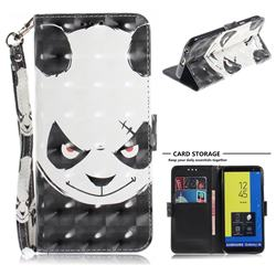 Angry Bear 3D Painted Leather Wallet Phone Case for Samsung Galaxy J6 (2018) SM-J600F