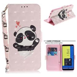 Heart Cat 3D Painted Leather Wallet Phone Case for Samsung Galaxy J6 (2018) SM-J600F