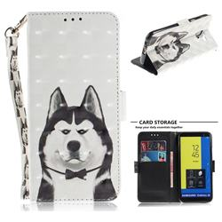 Husky Dog 3D Painted Leather Wallet Phone Case for Samsung Galaxy J6 (2018) SM-J600F