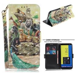 Beast Zoo 3D Painted Leather Wallet Phone Case for Samsung Galaxy J6 (2018) SM-J600F