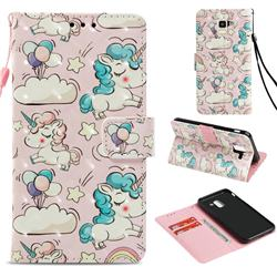 Angel Pony 3D Painted Leather Wallet Case for Samsung Galaxy J6 (2018) SM-J600F