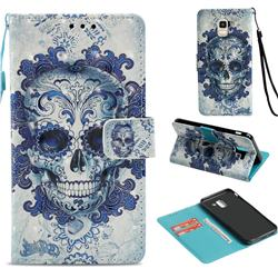 Cloud Kito 3D Painted Leather Wallet Case for Samsung Galaxy J6 (2018) SM-J600F
