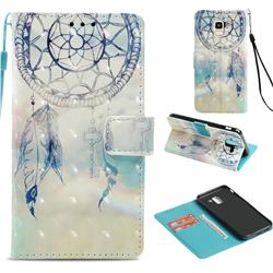 Fantasy Campanula 3D Painted Leather Wallet Case for Samsung Galaxy J6 (2018) SM-J600F