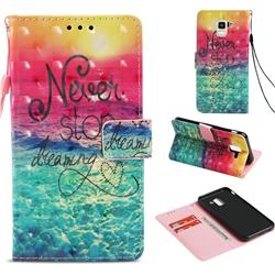 Colorful Dream Catcher 3D Painted Leather Wallet Case for Samsung Galaxy J6 (2018) SM-J600F