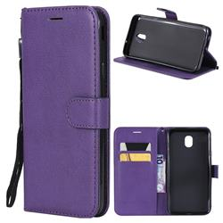 Retro Greek Classic Smooth PU Leather Wallet Phone Case for Samsung Galaxy J6 (2018) SM-J600F - Purple