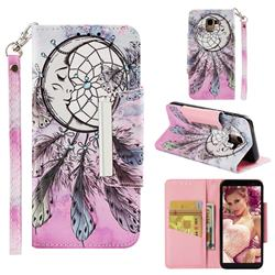 Angel Monternet Big Metal Buckle PU Leather Wallet Phone Case for Samsung Galaxy J6 (2018) SM-J600F