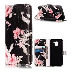 Azalea Flower PU Leather Wallet Case for Samsung Galaxy J6 (2018) SM-J600F