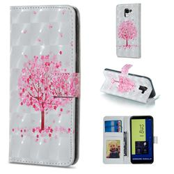 Sakura Flower Tree 3D Painted Leather Phone Wallet Case for Samsung Galaxy J6 (2018) SM-J600F