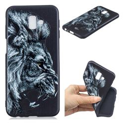 Lion 3D Embossed Relief Black TPU Cell Phone Back Cover for Samsung Galaxy J6 Plus / J6 Prime