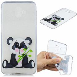 Bamboo Panda Clear Varnish Soft Phone Back Cover for Samsung Galaxy J6 Plus / J6 Prime