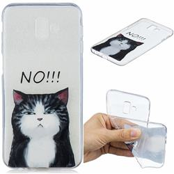 Cat Say No Clear Varnish Soft Phone Back Cover for Samsung Galaxy J6 Plus / J6 Prime