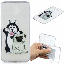 Selfie Dog Clear Varnish Soft Phone Back Cover for Samsung Galaxy J6 Plus / J6 Prime