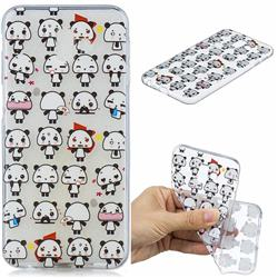 Mini Panda Clear Varnish Soft Phone Back Cover for Samsung Galaxy J6 Plus / J6 Prime