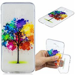 Oil Painting Tree Clear Varnish Soft Phone Back Cover for Samsung Galaxy J6 Plus / J6 Prime