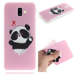 Heart Cat IMD Soft TPU Cell Phone Back Cover for Samsung Galaxy J6 Plus / J6 Prime