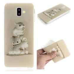 Three Squirrels IMD Soft TPU Cell Phone Back Cover for Samsung Galaxy J6 Plus / J6 Prime
