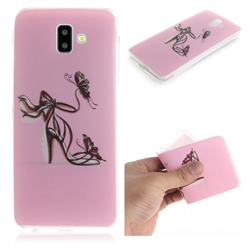 Butterfly High Heels IMD Soft TPU Cell Phone Back Cover for Samsung Galaxy J6 Plus / J6 Prime