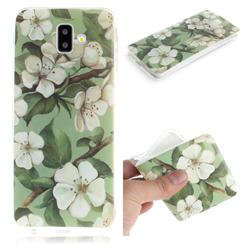 Watercolor Flower IMD Soft TPU Cell Phone Back Cover for Samsung Galaxy J6 Plus / J6 Prime