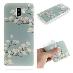 Magnolia Flower IMD Soft TPU Cell Phone Back Cover for Samsung Galaxy J6 Plus / J6 Prime