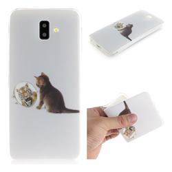 Cat and Tiger IMD Soft TPU Cell Phone Back Cover for Samsung Galaxy J6 Plus / J6 Prime