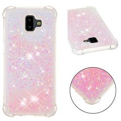 Dynamic Liquid Glitter Sand Quicksand TPU Case for Samsung Galaxy J6 Plus / J6 Prime - Silver Powder Star