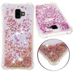 Dynamic Liquid Glitter Sand Quicksand TPU Case for Samsung Galaxy J6 Plus / J6 Prime - Rose Gold Love Heart