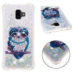 Sweet Gray Owl Dynamic Liquid Glitter Sand Quicksand Star TPU Case for Samsung Galaxy J6 Plus / J6 Prime