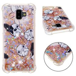 Bulldog Dynamic Liquid Glitter Sand Quicksand Star TPU Case for Samsung Galaxy J6 Plus / J6 Prime