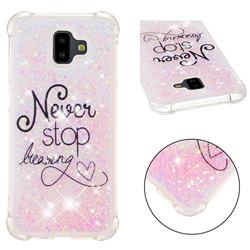 Never Stop Dreaming Dynamic Liquid Glitter Sand Quicksand Star TPU Case for Samsung Galaxy J6 Plus / J6 Prime