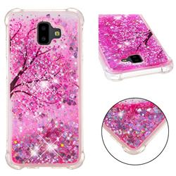 Pink Cherry Blossom Dynamic Liquid Glitter Sand Quicksand Star TPU Case for Samsung Galaxy J6 Plus / J6 Prime