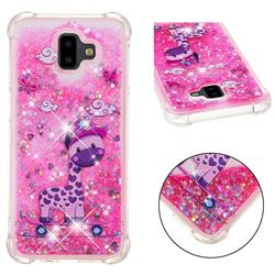 Skateboard Deer Dynamic Liquid Glitter Sand Quicksand Star TPU Case for Samsung Galaxy J6 Plus / J6 Prime