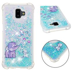 Bubble Jumbo Rabbit Dynamic Liquid Glitter Sand Quicksand Star TPU Case for Samsung Galaxy J6 Plus / J6 Prime