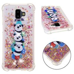 Three Pandas Dynamic Liquid Glitter Sand Quicksand Star TPU Case for Samsung Galaxy J6 Plus / J6 Prime