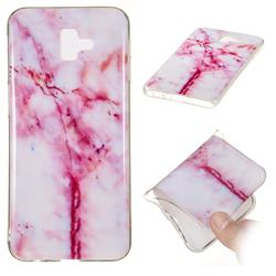 Red Grain Soft TPU Marble Pattern Phone Case for Samsung Galaxy J6 Plus / J6 Prime