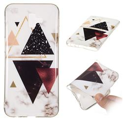 Four Triangular Soft TPU Marble Pattern Phone Case for Samsung Galaxy J6 Plus / J6 Prime