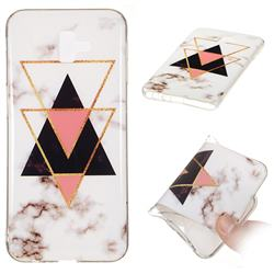 Inverted Triangle Black Soft TPU Marble Pattern Phone Case for Samsung Galaxy J6 Plus / J6 Prime