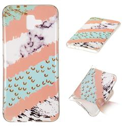 Diagonal Grass Soft TPU Marble Pattern Phone Case for Samsung Galaxy J6 Plus / J6 Prime