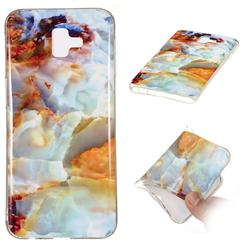 Fire Cloud Soft TPU Marble Pattern Phone Case for Samsung Galaxy J6 Plus / J6 Prime