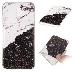 Black and White Soft TPU Marble Pattern Phone Case for Samsung Galaxy J6 Plus / J6 Prime