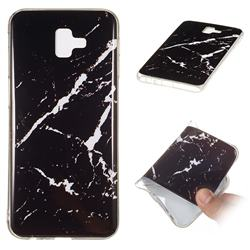 Black Rough white Soft TPU Marble Pattern Phone Case for Samsung Galaxy J6 Plus / J6 Prime