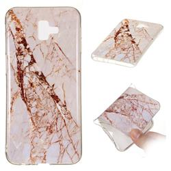 White Crushed Soft TPU Marble Pattern Phone Case for Samsung Galaxy J6 Plus / J6 Prime