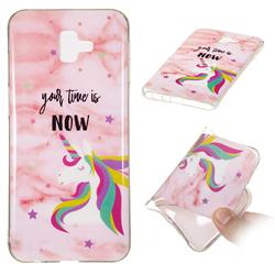 Unicorn Soft TPU Marble Pattern Phone Case for Samsung Galaxy J6 Plus / J6 Prime