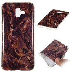 Brown Soft TPU Marble Pattern Phone Case for Samsung Galaxy J6 Plus / J6 Prime