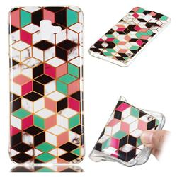 Three-dimensional Square Soft TPU Marble Pattern Phone Case for Samsung Galaxy J6 Plus / J6 Prime
